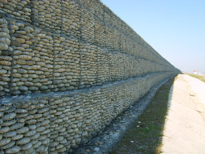 Gavion Piedra Bola muro contencion